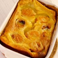 French clafoutis with apricots