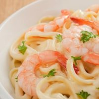 Tagliatelle with shrimps